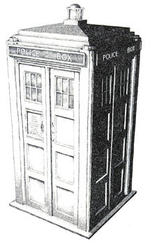 DOCTOR WHO - TARDIS EX B/W V.2 by SPGK | Doctor who art, Tardis ... | 350x215