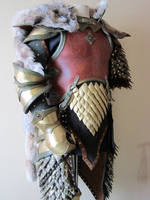 Elven Swordsinger Leather Armor with Lynx by Flacusetarhadel
