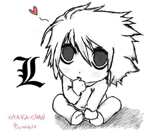 L Lawliet - Chibi by poweroftheunicorn on DeviantArt