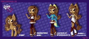 Choco Equestria Girl Evolution by AngGrc