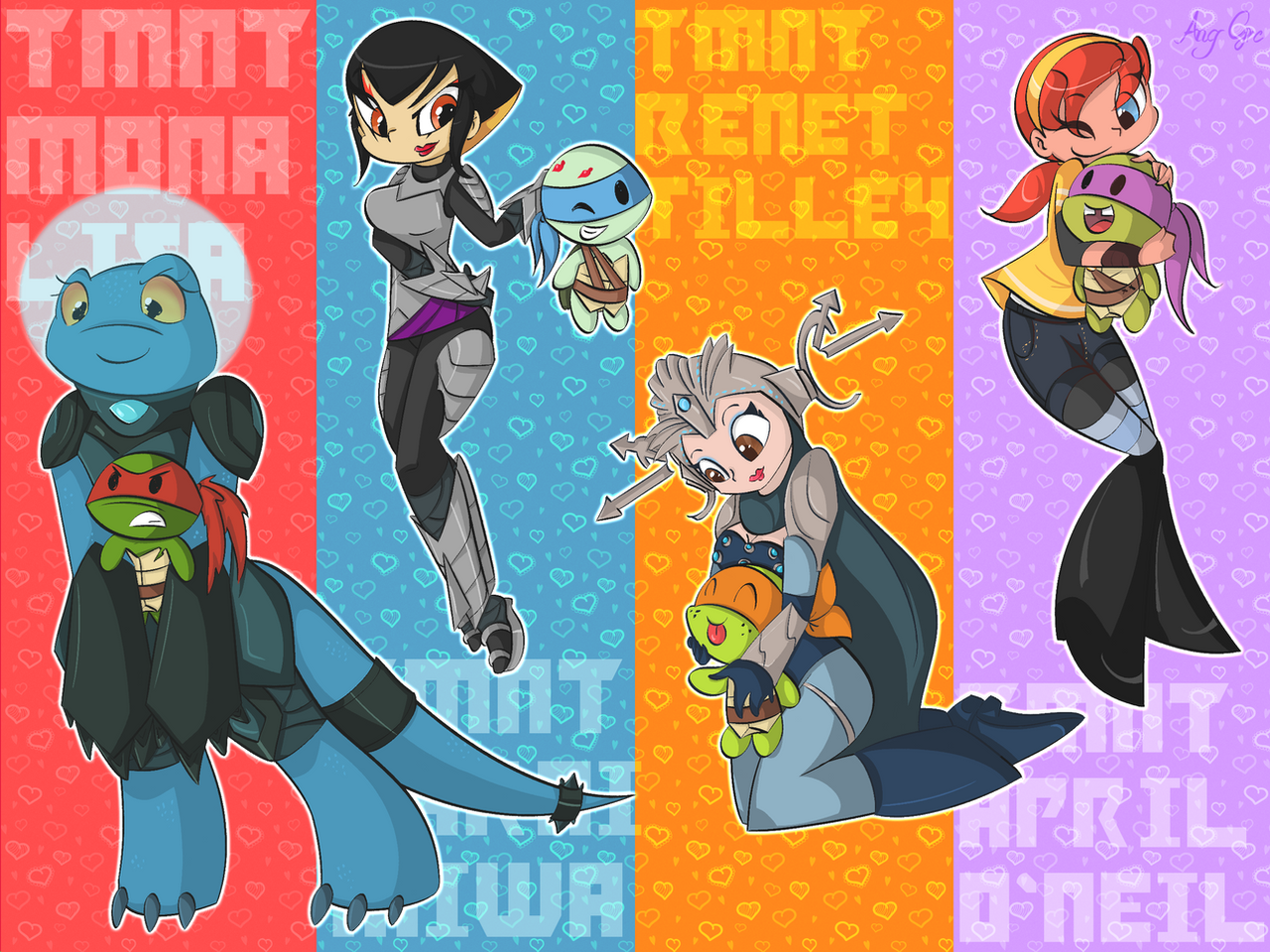TMNT GirlZ by AngGrc