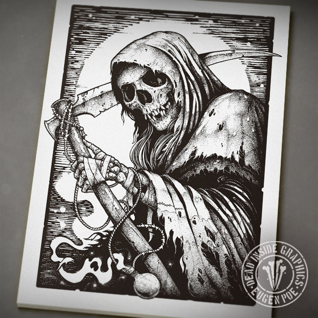 Portrait of death by deadinsidegraphics on deviantart portrait of death by deadinsidegraphics voltagebd Images