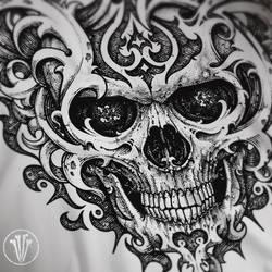 Skull Ornated by DeadInsideGraphics