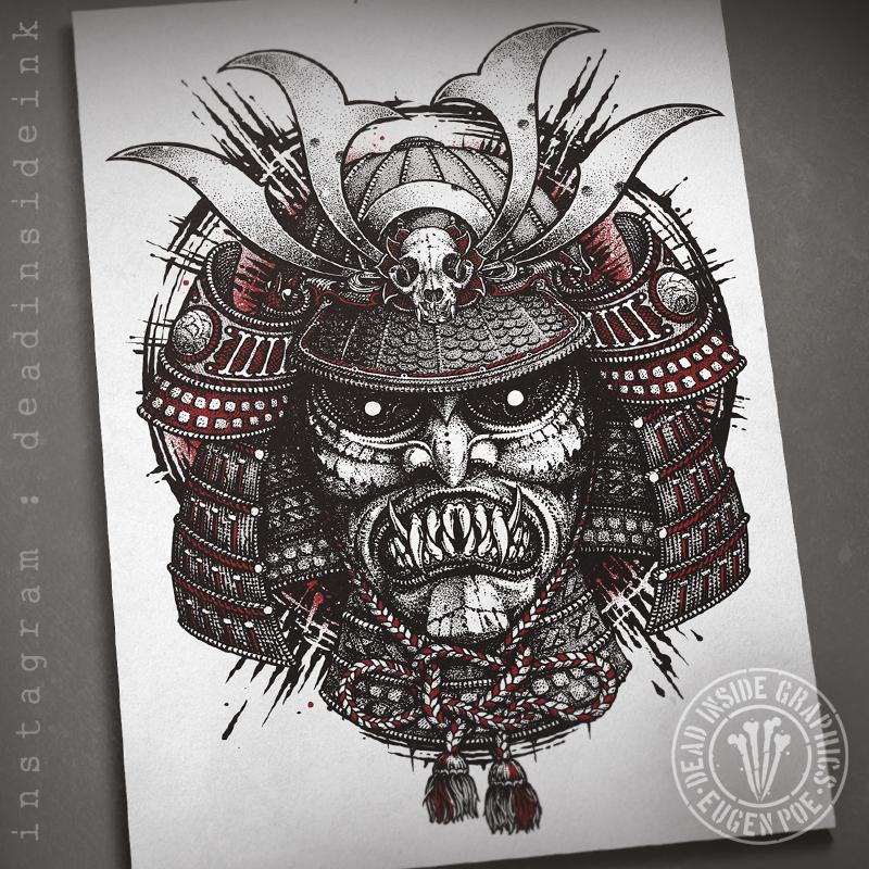 Samurai Head by DeadInsideGraphics