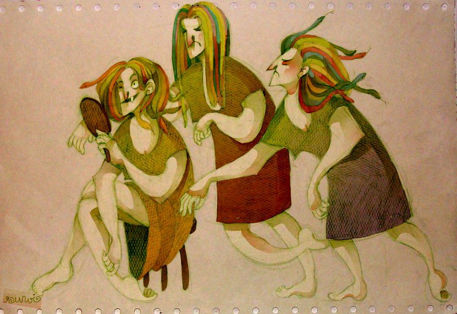 Gorgon Sisters One Piece Gorgon sisters by s-u-w-i