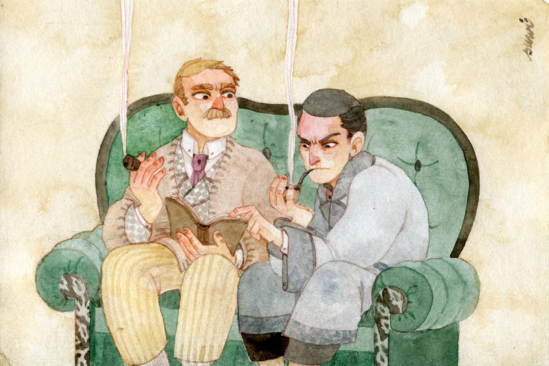 Holmes and Watson by s-u-w-i