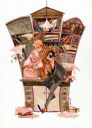 bookshop by s-u-w-i