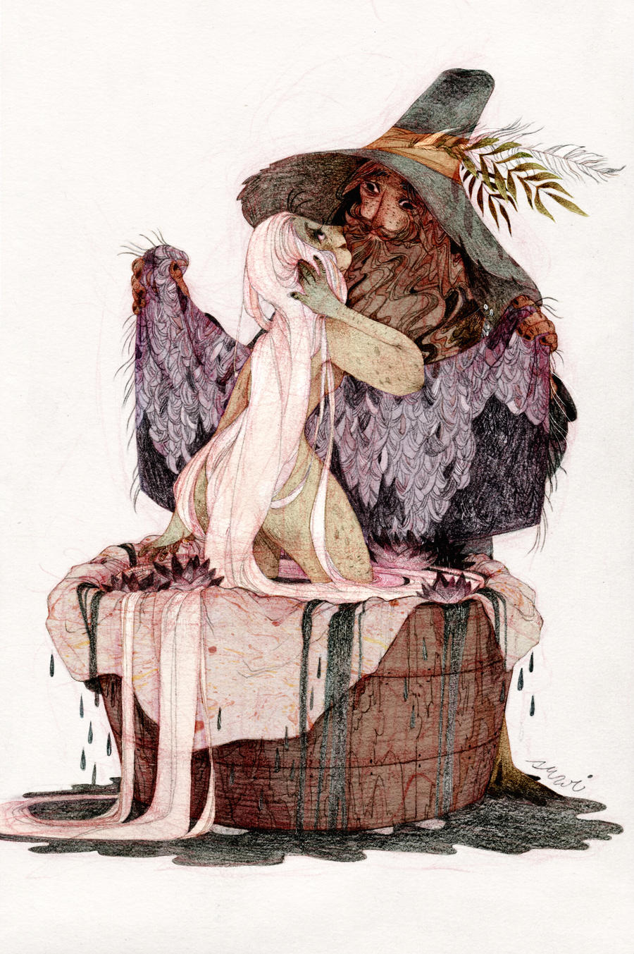 Tom Bombadil and Goldberry by s-u-w-i