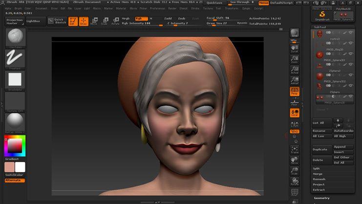 Rostro, Modelado 3D by Rcarmona