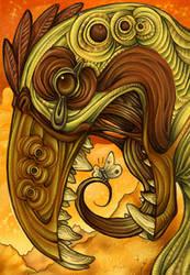 Golden bird by Snailbeak