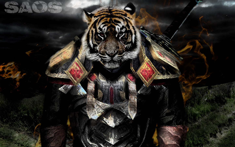 Cool Tiger Warrior Wallpaper