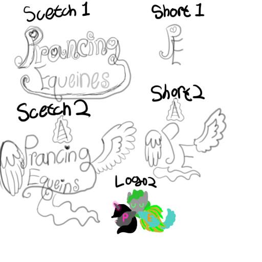 Da Crew:Prancing Equeins Logo Ideas by SaverCat