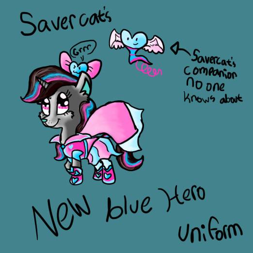 Savercats new superhero uniform by SaverCat