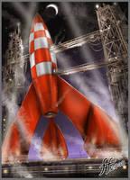 Tin-tin's Moon Rocket by 14-bis