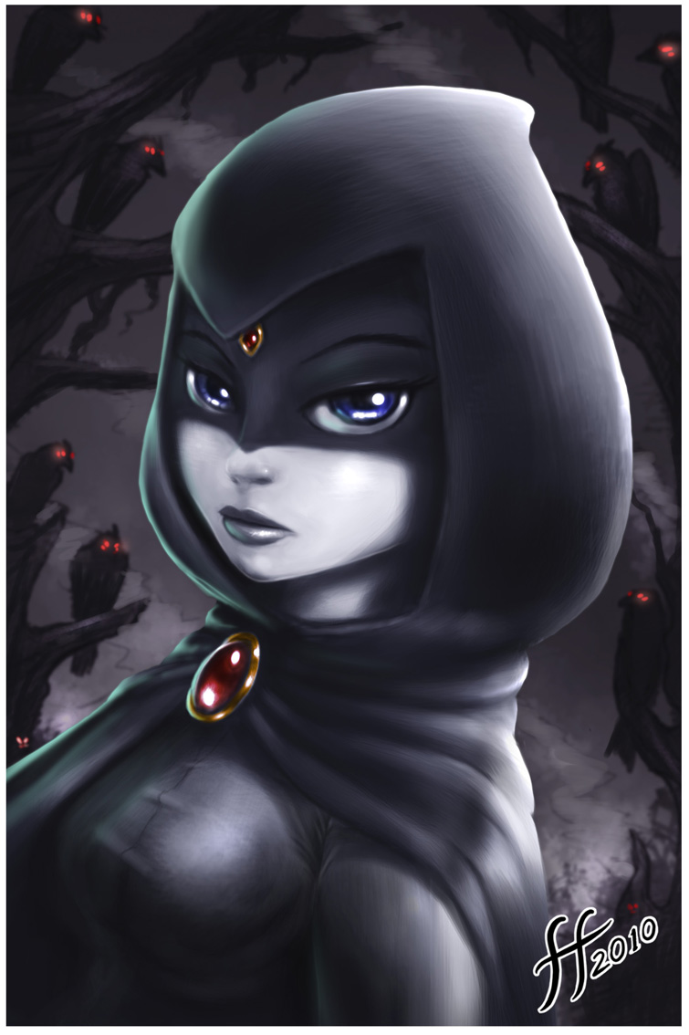 Hooded raven by 14-bis