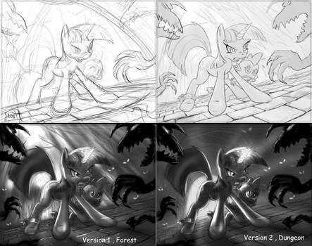 Twilight Battle sketch UPDATE