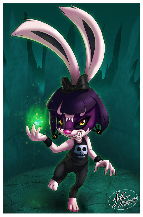 Goth Bunny by 14-bis