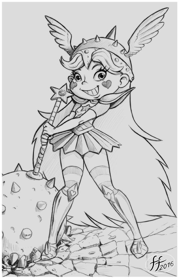 Warrior Princess sketch by 14-bis