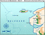 The Atlas of Beleriand - Map 9