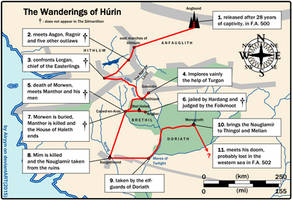 The Wanderings of Hurin by Airyyn