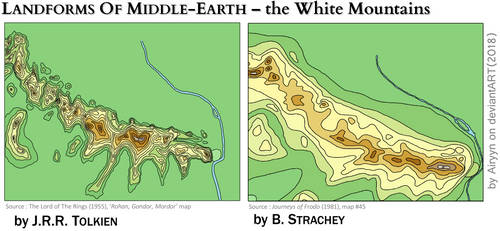 Landforms Of Middle-Earth - the White Mountains by Airyyn