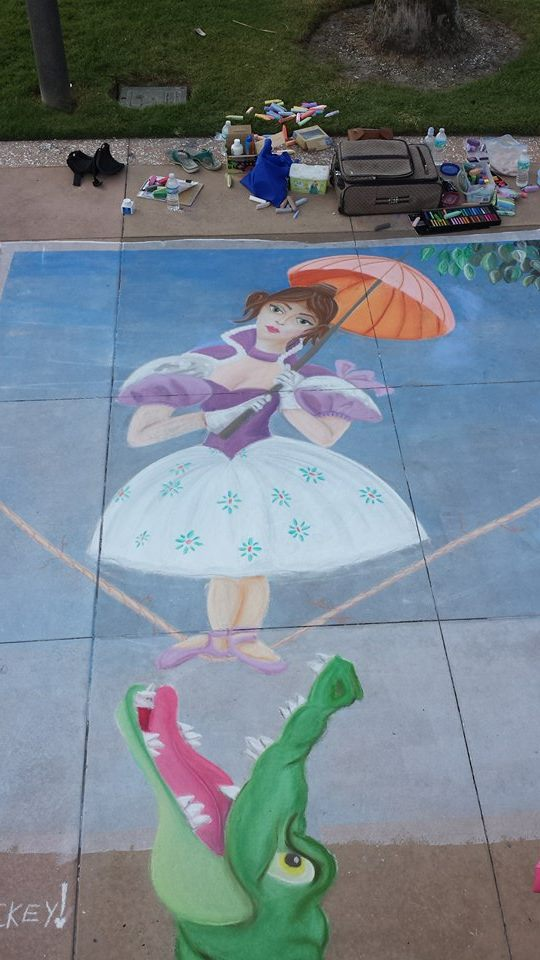 Tick Tock Tightrope by Chalk-N-Awe-Art