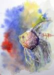 Watercolor angelfish