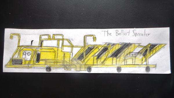 how to make a ballast spreader