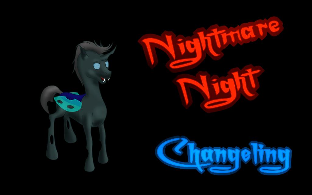 Nightmare Night - Changeling Background by Flutterknight
