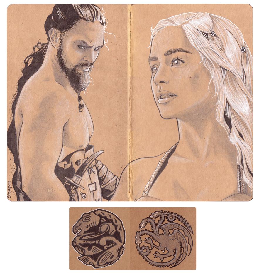 Khal and Khaleesi by rurouni-jedi