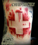 Blood Cross Medic Tattoo by Chad Nicely