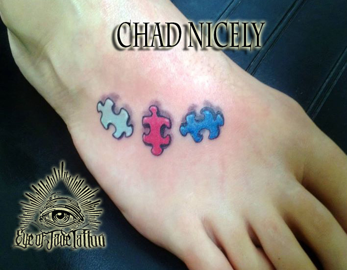 Colorful Puzzle Piece Autism Tattoo By Chad Nicely By Eyeofjadetattoos On Deviantart