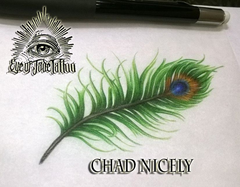 Peacock Feather Tattoo Design By Chad Nicely By Eyeofjadetattoos On