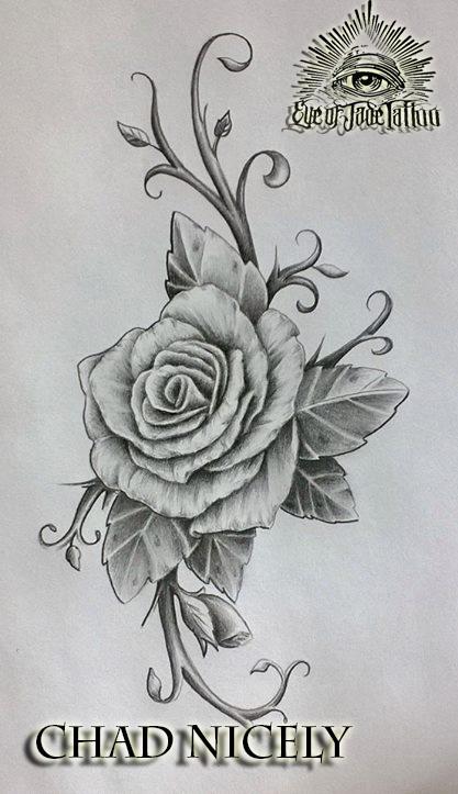 Rose Tattoo Design By Chad Nicely EyeofJadeTattoos On DeviantArt
