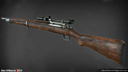 Lowpoly Springfield Rifle
