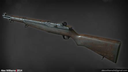 Lowpoly M1 Garand Rifle