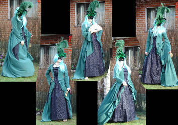 green dress whit mask by Siritys
