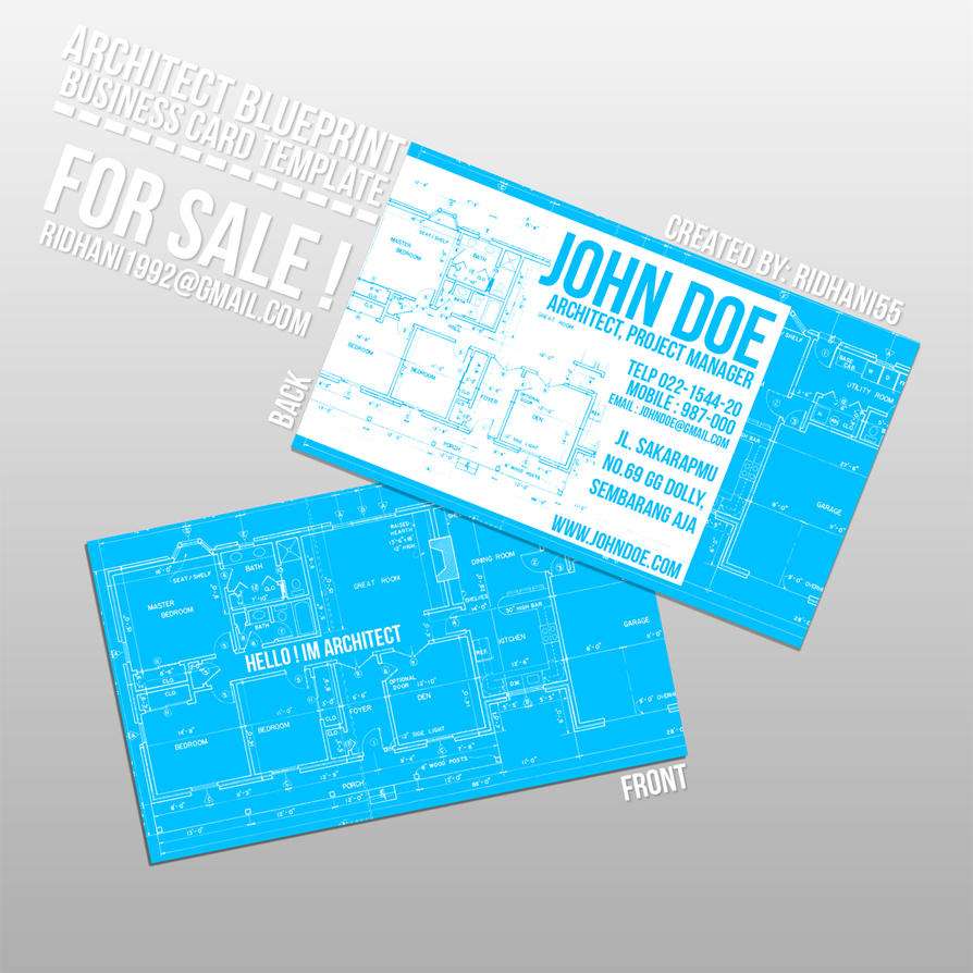 Architech blueprint style business card by ridhani55 on deviantart architech blueprint style business card by ridhani55 malvernweather Images