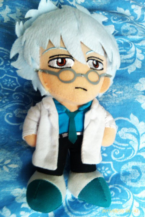 Gintama Teacher Gintoki Plush by Bluedragoncartoon