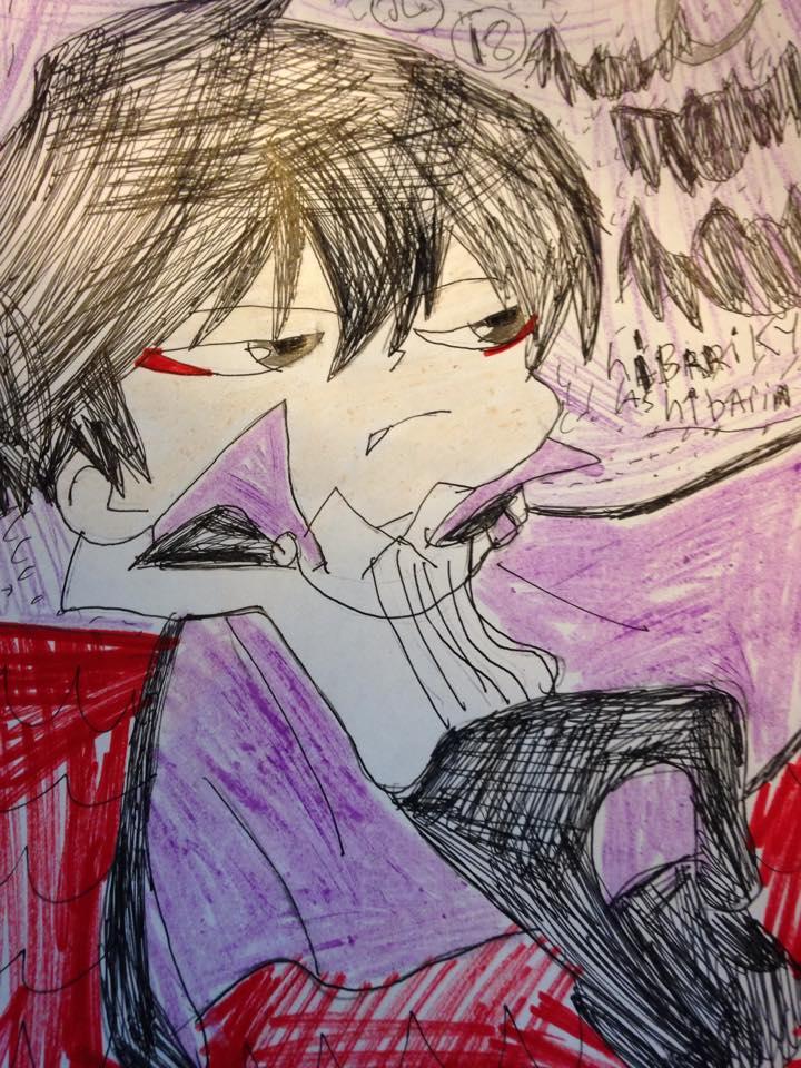 KHR monster tamer tsuna Hibari Kyoya as vampire by Bluedragoncartoon