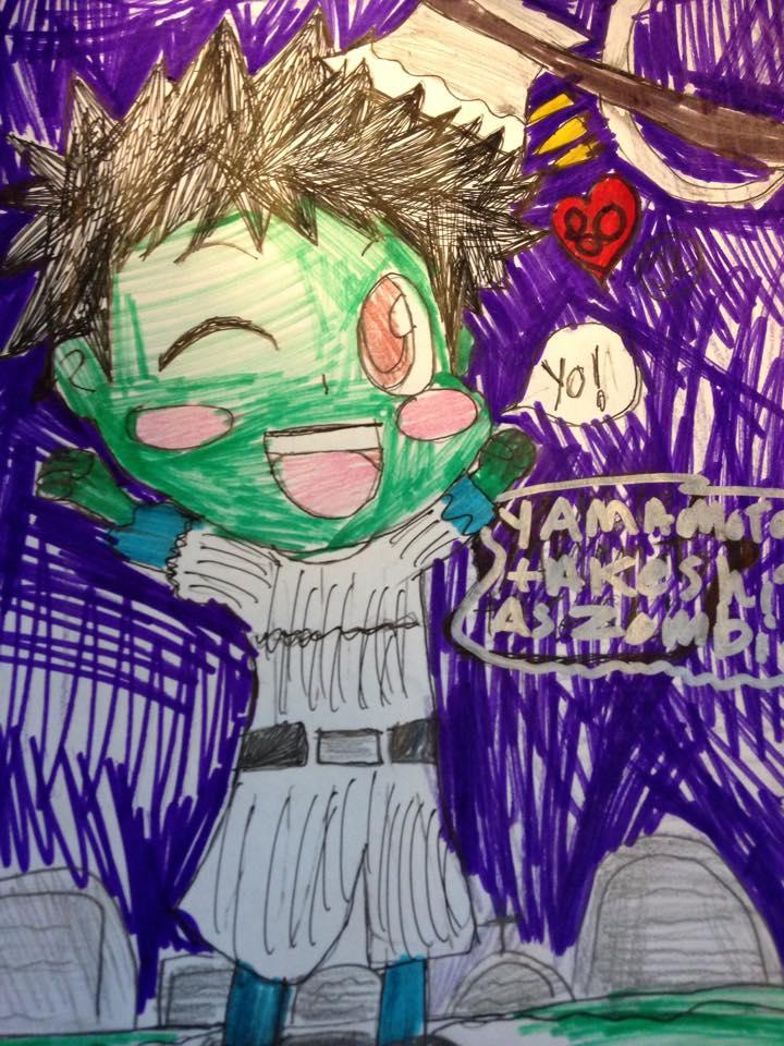 KHR the merry zombie Yamamoto takeshi by Bluedragoncartoon