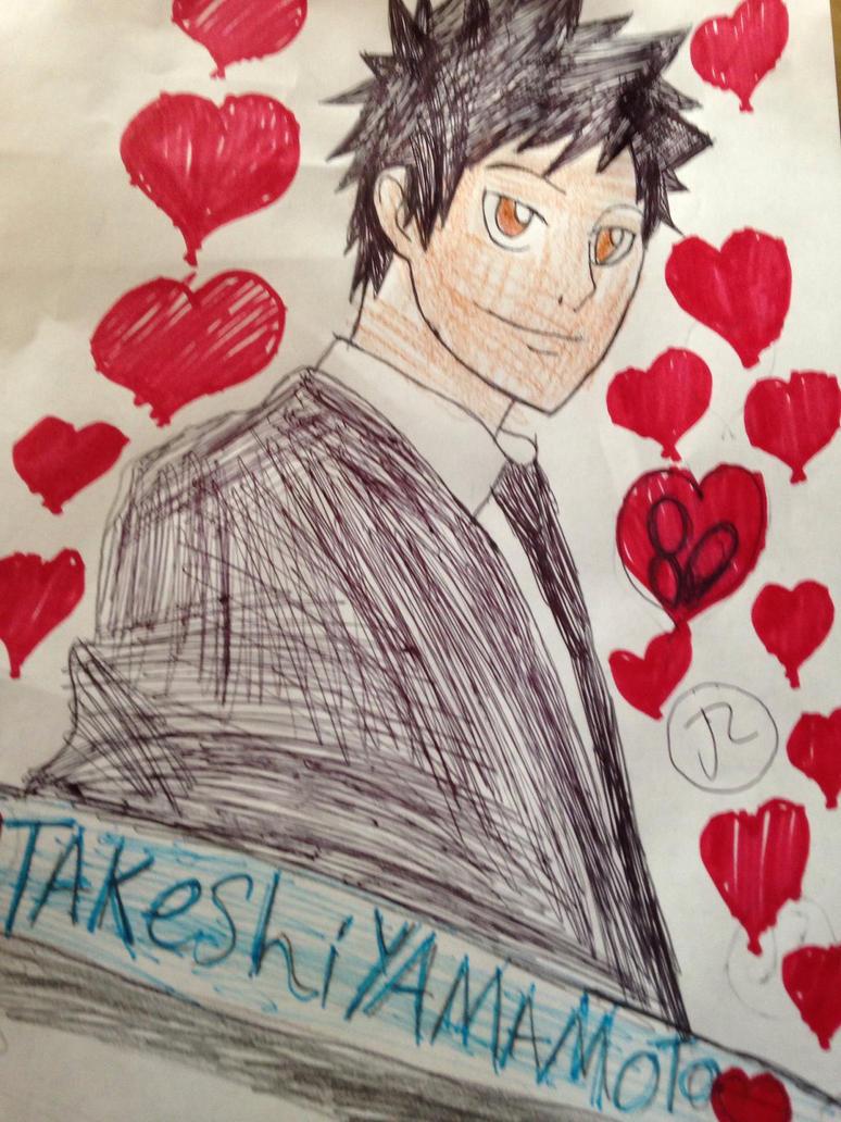 Takeshi Yamamoto  by Bluedragoncartoon