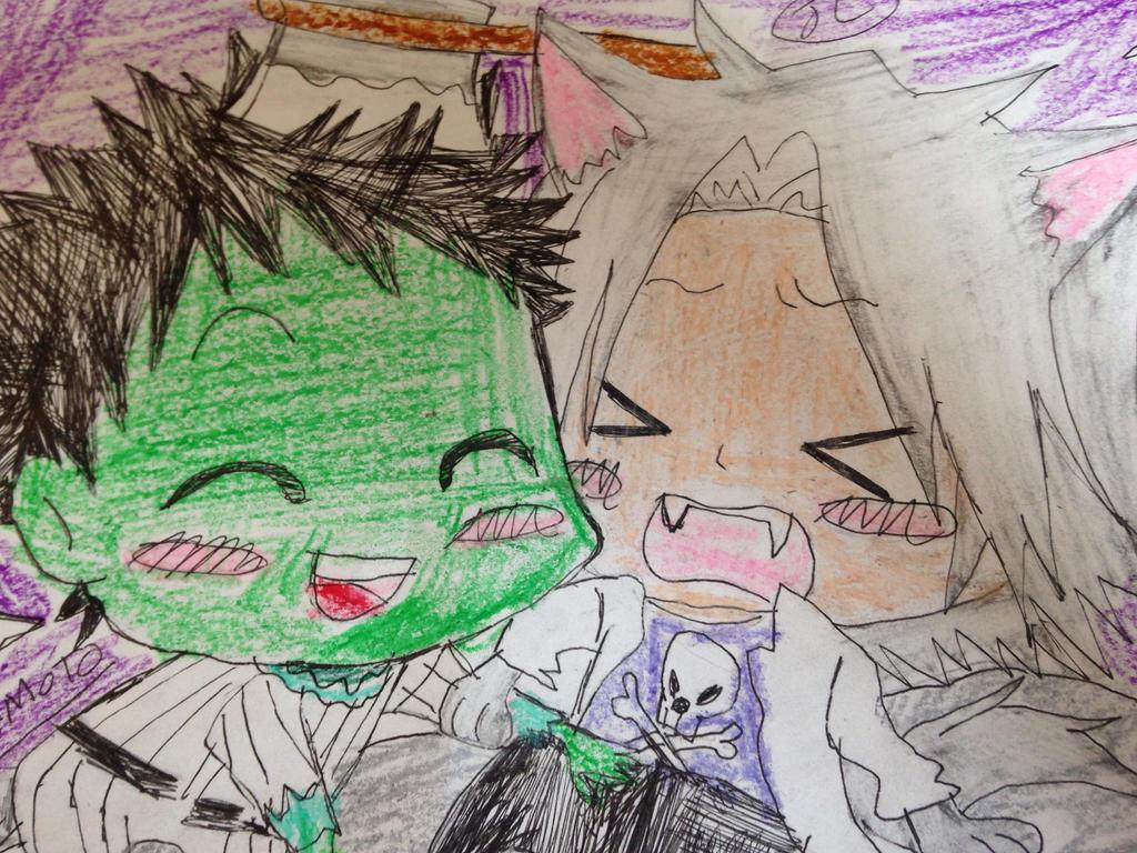 Khr merry zombie and werecat  by Bluedragoncartoon