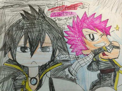 fairy tail zeref and natsu dragneel bro by Bluedragoncartoon