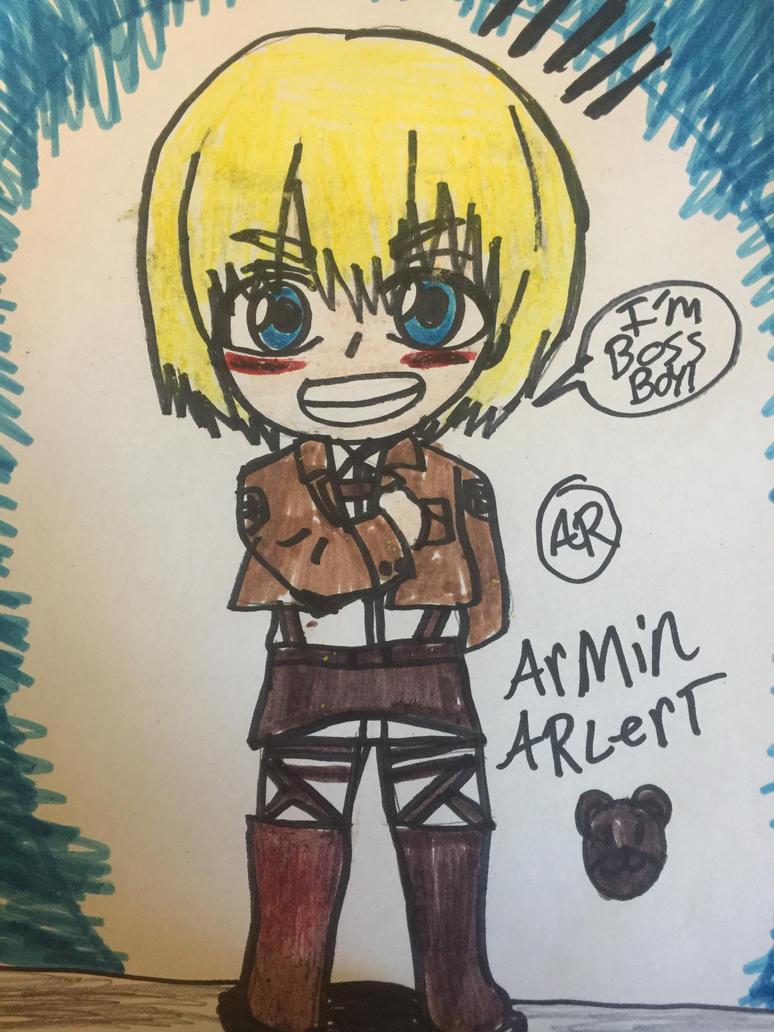 AOT Armin arlert is boss boy by Bluedragoncartoon