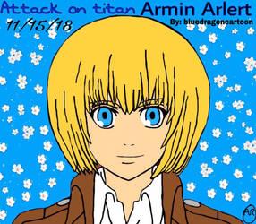 Attack on titan I drawing armin arlert by Bluedragoncartoon