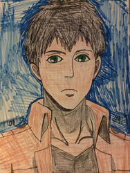 Attack on titan I drawing bertholdt hoover by Bluedragoncartoon