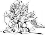 Ancient Dwarven Warrior by raakeshmenon