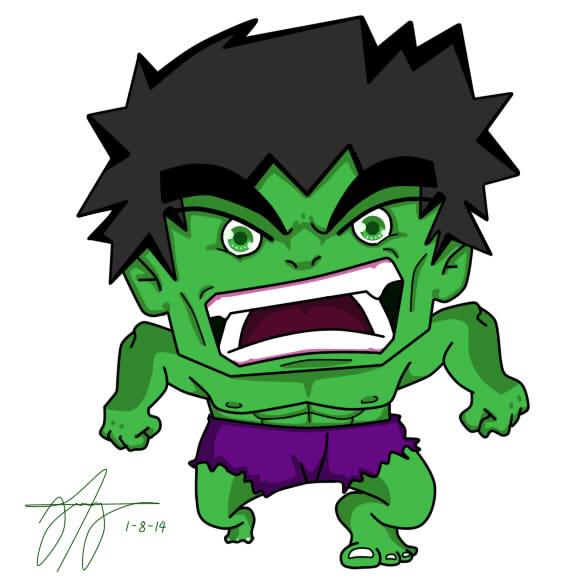 Hulk Chibi Hulk Chibi by Kumaski