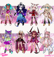 Demon Girls Batch 01 - OPEN!! 1 LEFT by Lord-Kosmos